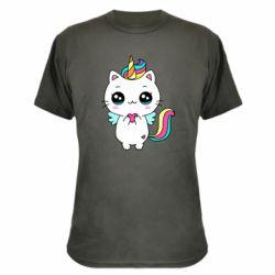 Камуфляжна футболка The cat is unicorn