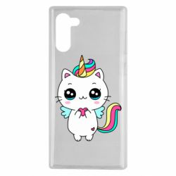 Чохол для Samsung Note 10 The cat is unicorn