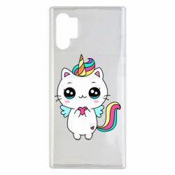 Чохол для Samsung Note 10 Plus The cat is unicorn