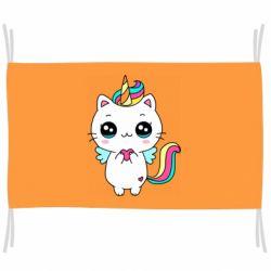 Прапор The cat is unicorn