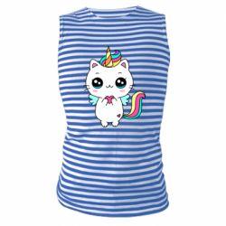 Майка-тільняшка The cat is unicorn