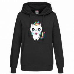 Толстовка жіноча The cat is unicorn
