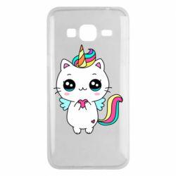 Чохол для Samsung J3 2016 The cat is unicorn