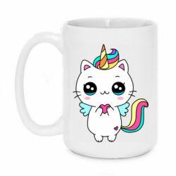 Кружка 420ml The cat is unicorn