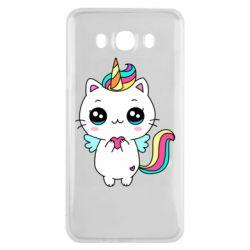 Чохол для Samsung J7 2016 The cat is unicorn