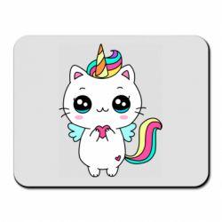 Килимок для миші The cat is unicorn