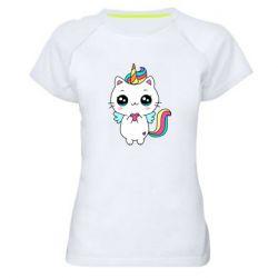Жіноча спортивна футболка The cat is unicorn