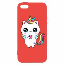 Чохол для iphone 5/5S/SE The cat is unicorn