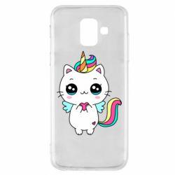 Чохол для Samsung A6 2018 The cat is unicorn
