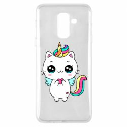 Чохол для Samsung A6+ 2018 The cat is unicorn
