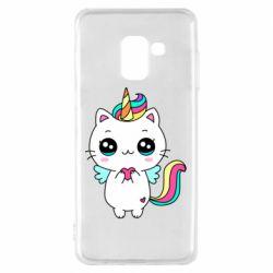 Чохол для Samsung A8 2018 The cat is unicorn