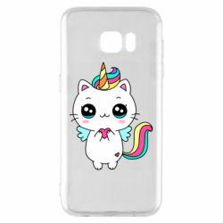 Чохол для Samsung S7 EDGE The cat is unicorn