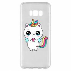 Чохол для Samsung S8+ The cat is unicorn