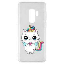 Чохол для Samsung S9+ The cat is unicorn