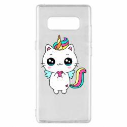 Чохол для Samsung Note 8 The cat is unicorn