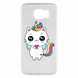 Чохол для Samsung S6 The cat is unicorn