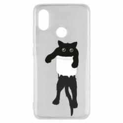 Чехол для Xiaomi Mi8 The cat tore the pocket