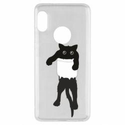Чехол для Xiaomi Redmi Note 5 The cat tore the pocket