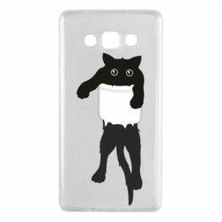 Чехол для Samsung A7 2015 The cat tore the pocket