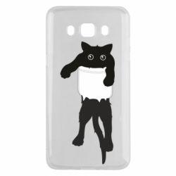 Чехол для Samsung J5 2016 The cat tore the pocket
