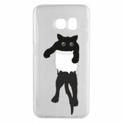 Чехол для Samsung S6 EDGE The cat tore the pocket