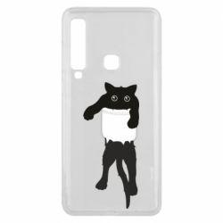 Чехол для Samsung A9 2018 The cat tore the pocket