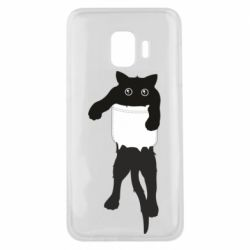 Чехол для Samsung J2 Core The cat tore the pocket