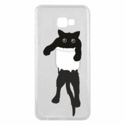 Чехол для Samsung J4 Plus 2018 The cat tore the pocket