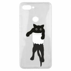 Чехол для Xiaomi Mi8 Lite The cat tore the pocket