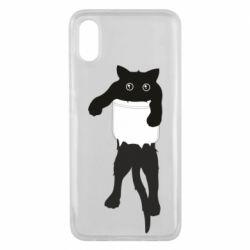 Чехол для Xiaomi Mi8 Pro The cat tore the pocket