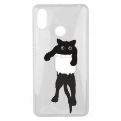 Чехол для Xiaomi Mi Max 3 The cat tore the pocket