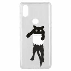 Чехол для Xiaomi Mi Mix 3 The cat tore the pocket