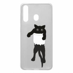 Чехол для Samsung A60 The cat tore the pocket