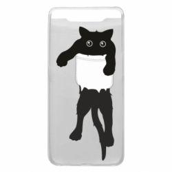Чехол для Samsung A80 The cat tore the pocket