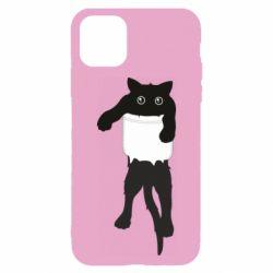 Чехол для iPhone 11 The cat tore the pocket