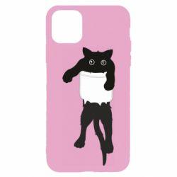 Чехол для iPhone 11 Pro Max The cat tore the pocket