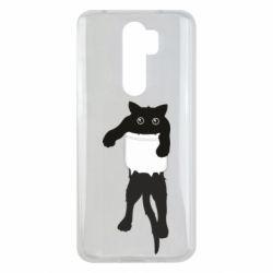 Чехол для Xiaomi Redmi Note 8 Pro The cat tore the pocket