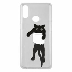 Чехол для Samsung A10s The cat tore the pocket
