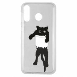Чехол для Samsung M30 The cat tore the pocket