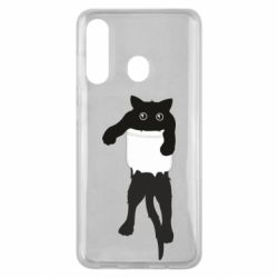 Чехол для Samsung M40 The cat tore the pocket
