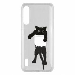 Чохол для Xiaomi Mi A3 The cat tore the pocket