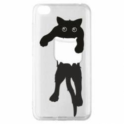 Чехол для Xiaomi Redmi Go The cat tore the pocket