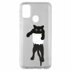 Чехол для Samsung M30s The cat tore the pocket