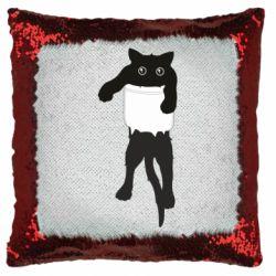 Подушка-хамелеон The cat tore the pocket
