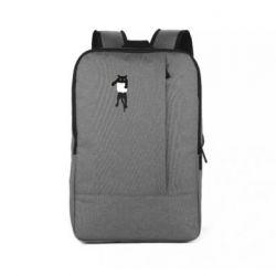 Рюкзак для ноутбука The cat tore the pocket