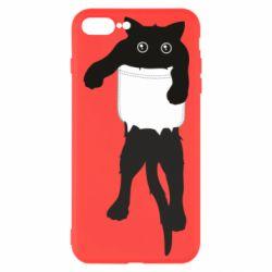 Чехол для iPhone 7 Plus The cat tore the pocket