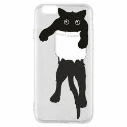 Чехол для iPhone 6/6S The cat tore the pocket