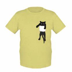 Детская футболка The cat tore the pocket
