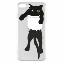 Чехол для iPhone 8 Plus The cat tore the pocket