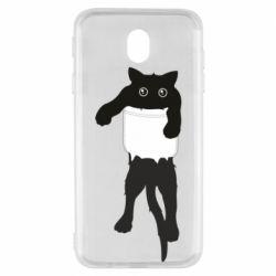 Чехол для Samsung J7 2017 The cat tore the pocket